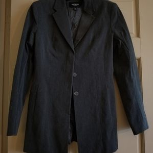 Charcoal grey Express suit jacket